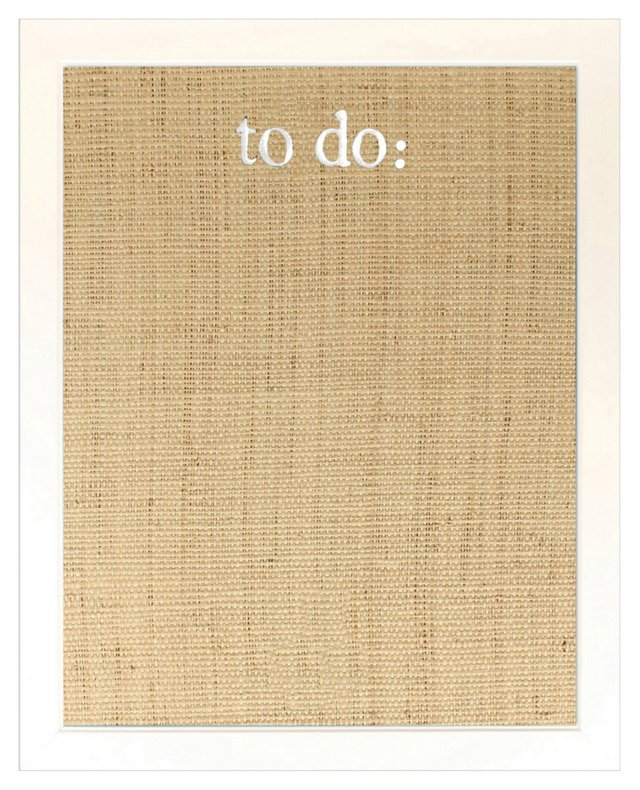 """To-Do"" Bulletin Board, Natural"