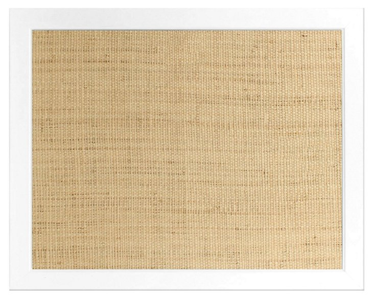 Raffia Frame Bulletin Board, White