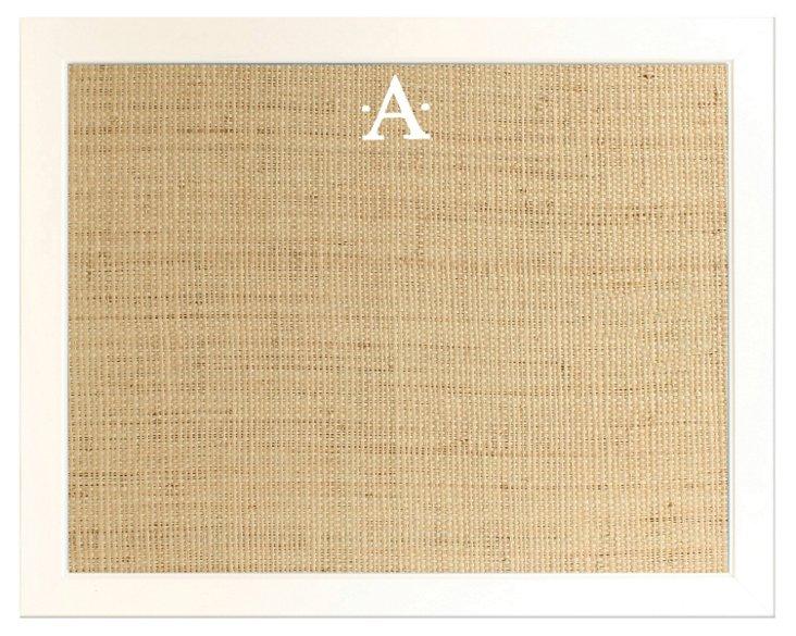 Monogram Framed Bulletin Board, Natural