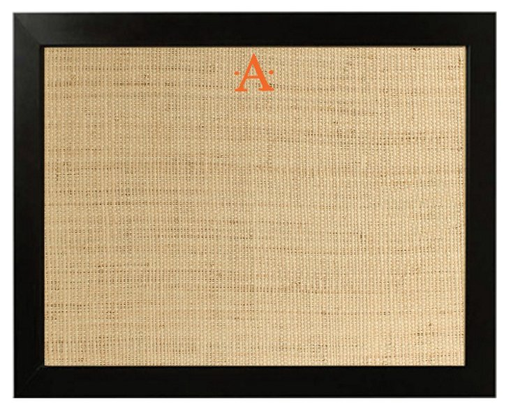 Monogram Framed Bulletin Board, Orange
