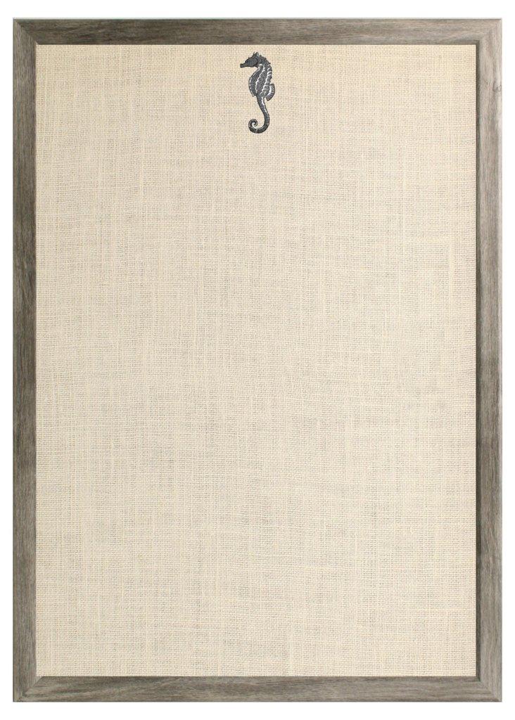 Seahorse Bulletin Board, Gray