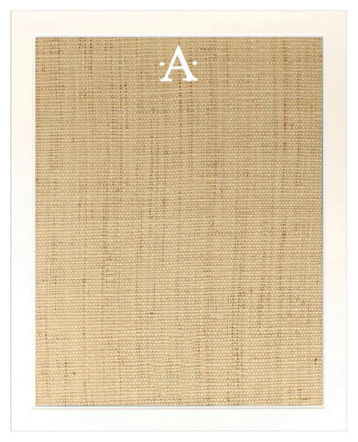 Monogramed Bulletin Board, White