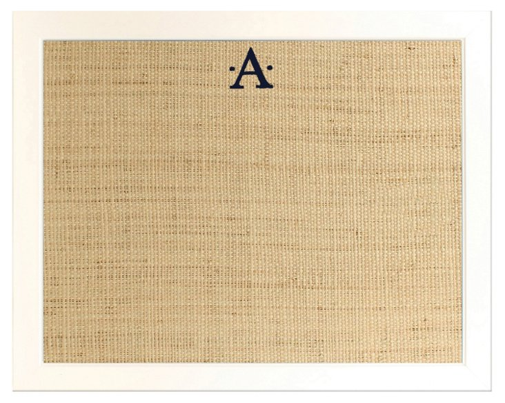 Monogramed Bulletin Board, Navy