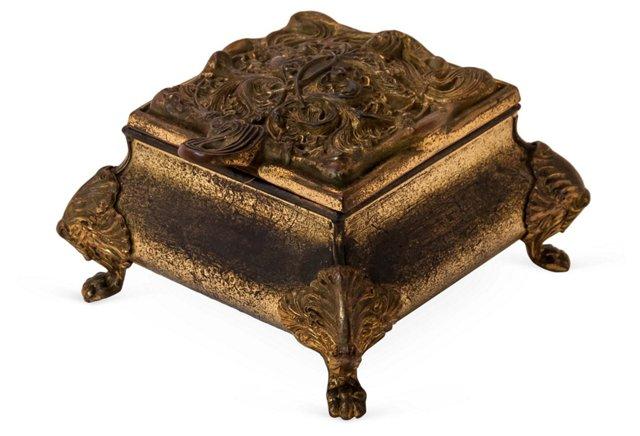 Art Nouveau Brass Box