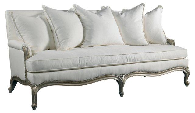 """Bronte 82"""" Sofa, Natural Linen"""