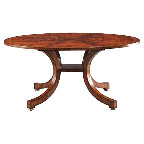 "Portman 72"" Bow Leg Round Dining Table"