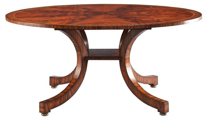 "Portman 72"" Bow Leg Round Dining Table"
