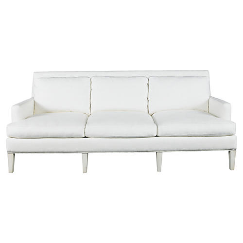 "Audrey 87"" Sofa, White"