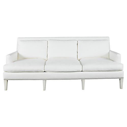 """Audrey 87"""" Sofa, White"""