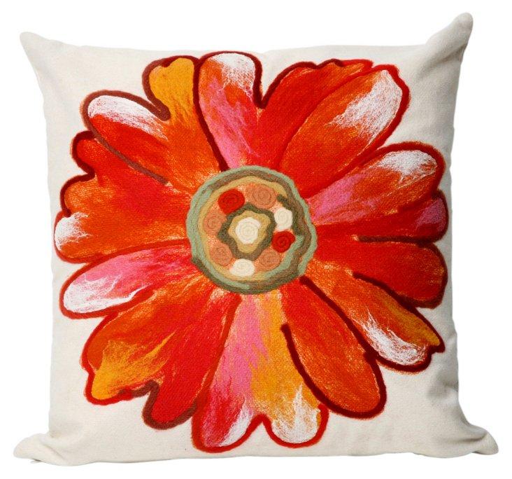 Set of 2 Daisy 20x20 Pillows, Orange