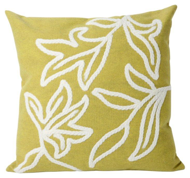 S/2 Braid 20x20 Pillows, Lime