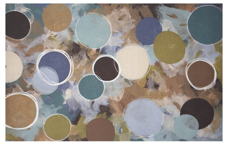 Circle Outdoor Rug, Multi