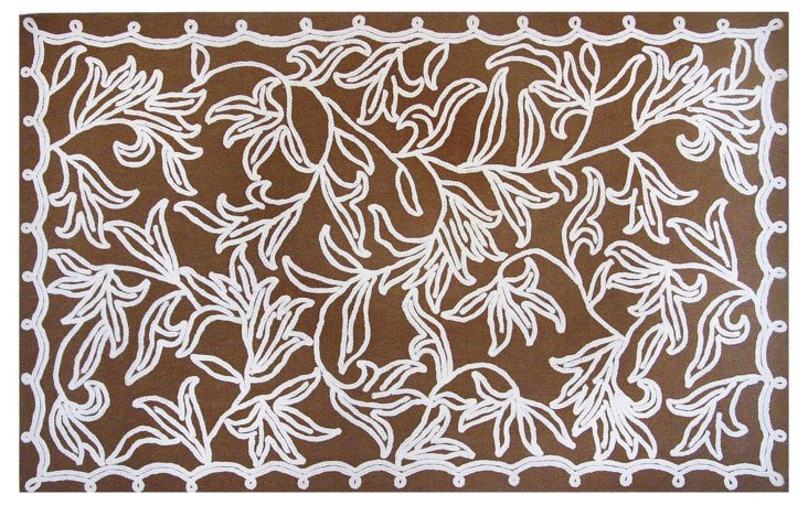 Braid Outdoor Rug, Chocolate