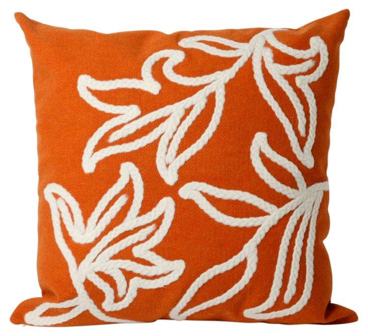 Set of 2 Braid 20x20 Pillows, Orange