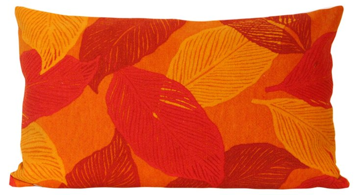 Set of 2 Cut Leaves 12x20 Pillows, Spice