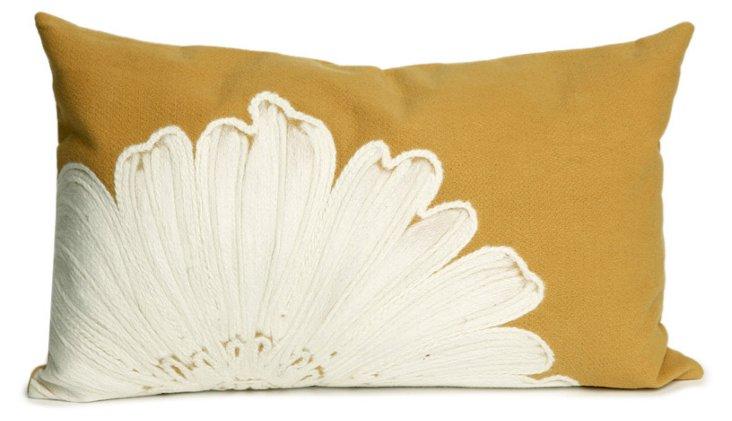 Set of 2 Flower 12x20 Pillows, Gold
