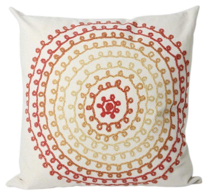 Set of 2 Circles 20x20 Pillows, Warm