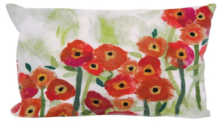 Set of 2 Field 12x20 Pillows, Red