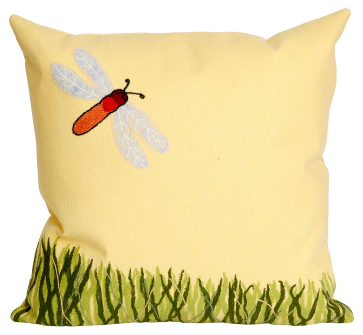 Set of 2 Meadow 20x20 Pillows, Yellow