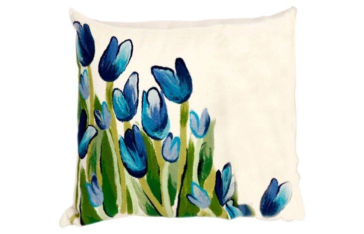 Set of 2 Tulip 20x20 Pillows, Blue