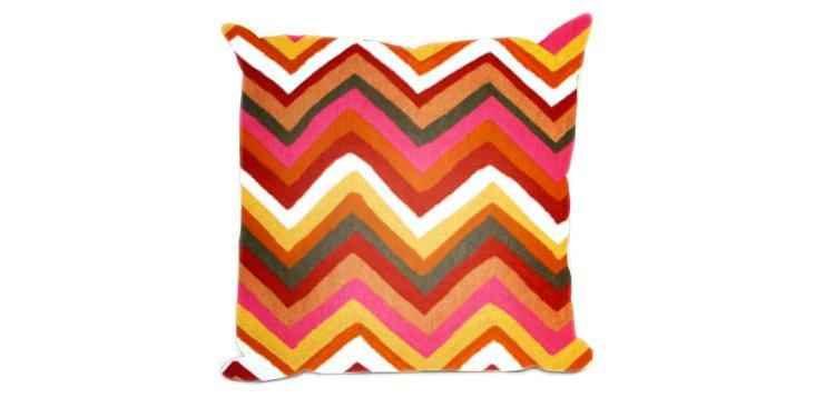 S/2 Zigzag 18x18 Pillows, Mandarin