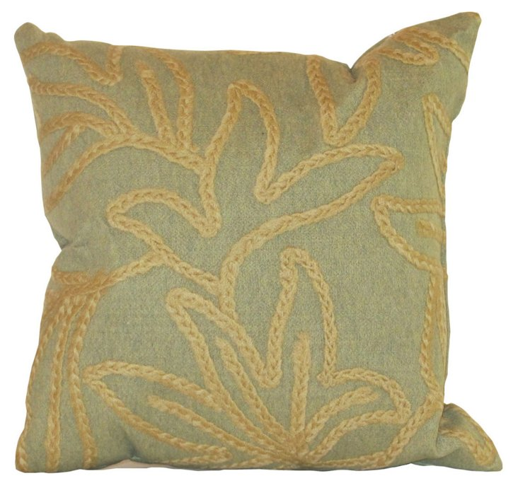 Set of 2 Flower 18x18 Pillows, Sage