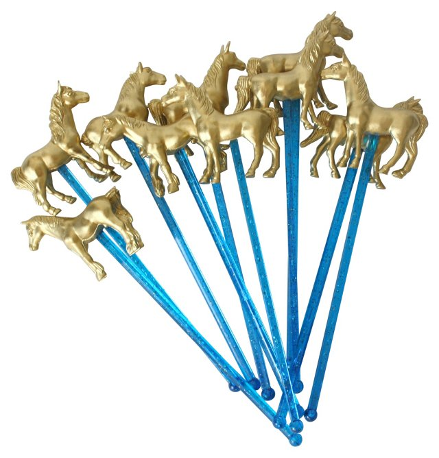 Asst. of 10 Horse Drink Stirrers