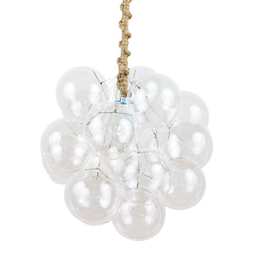 Eighteen Bubble Chandelier, Jute Cord