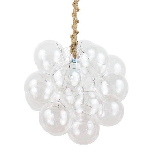 Eighteen Bubble Chandelier, Jute Cord