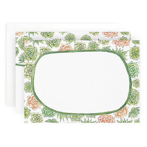 S/10 Succulent Note Cards