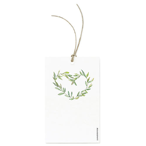 S/12 Garland Wreath Gift Tags