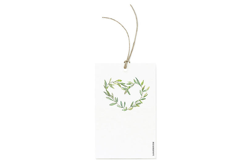 Set of 12 Garland Wreath Gift Tags - Lana's Shop
