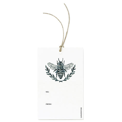 S/12 Bee Gift Tags