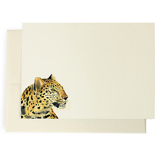 S/10 Leopard Note Cards