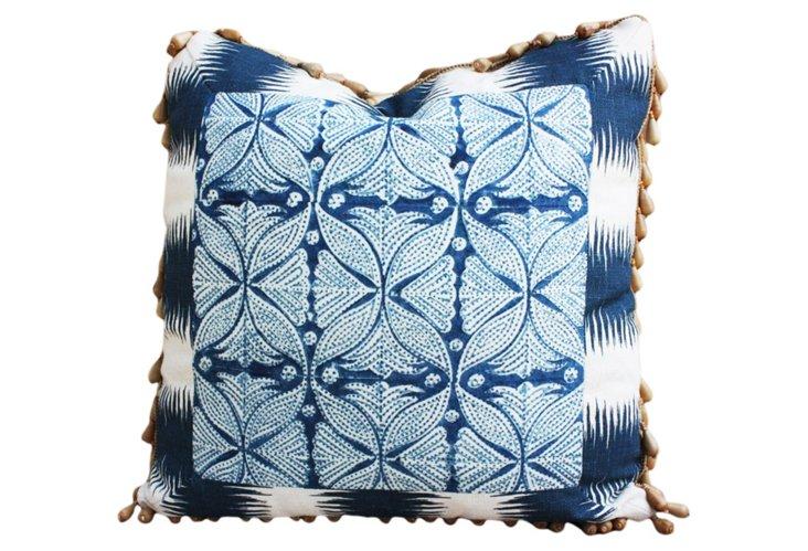 Framed Block Pillow, Blue