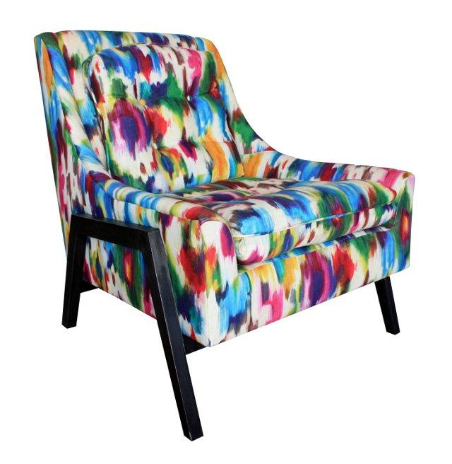 Grace Linen Rainbow Chair, Multi