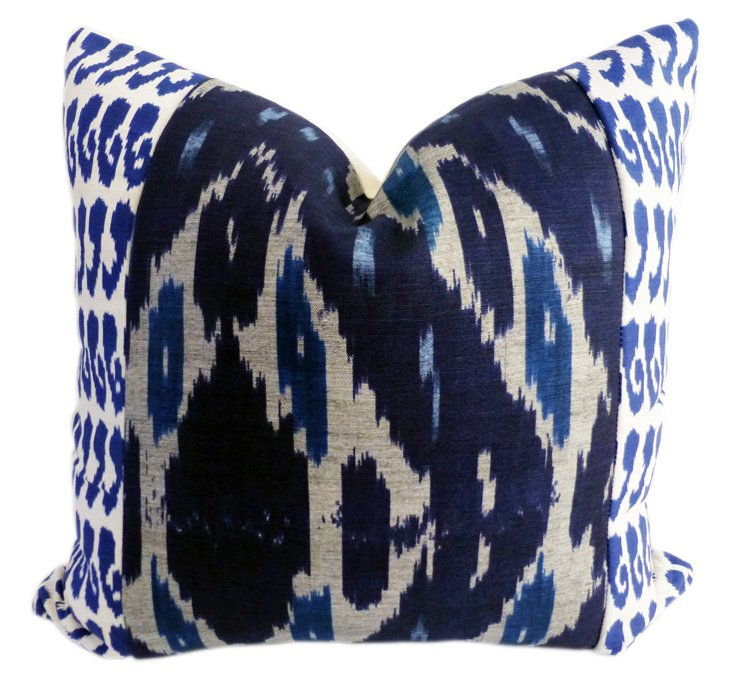 Raji 20x20 Cotton-Blend Pillow, Navy