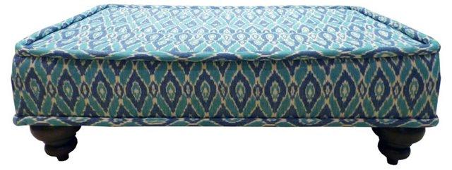 """Berkley 52"""" Ottoman, Turquoise"""