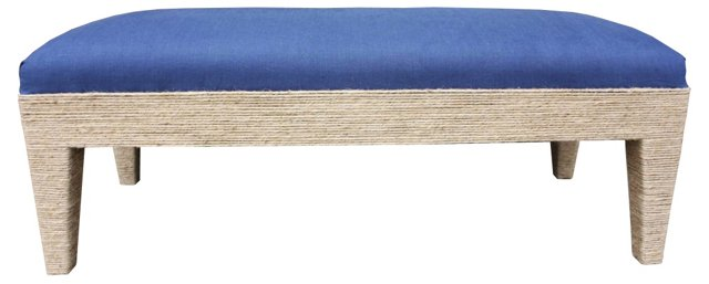 Del Mar Linen Bench, Navy