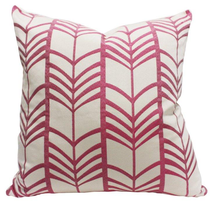 Lauren 20x20 Linen Pillow, Pink