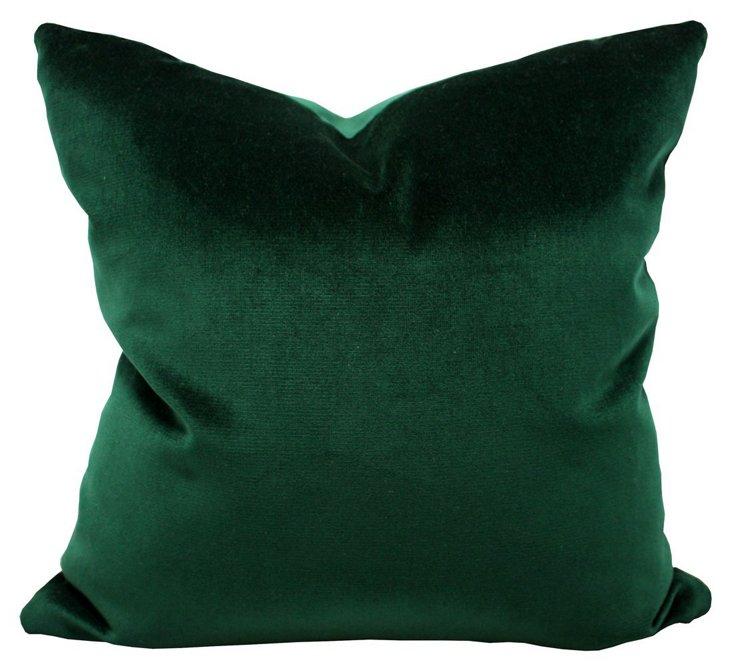 Royale 20x20 Velvet Pillow, Emerald