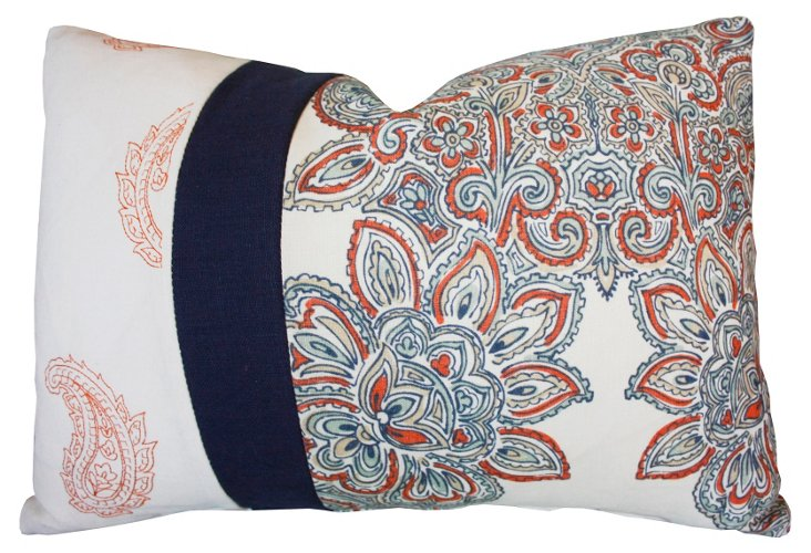 Floral 14x20 Cotton Pillow, Multi