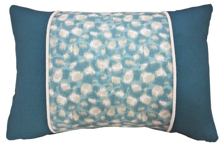 Zimba 16x24 Linen-Blend Pillow, Aqua
