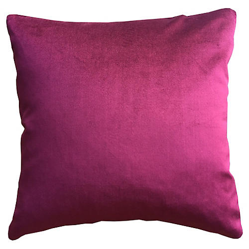 Dynasty 20x20 Velvet Pillow, Zinfandel
