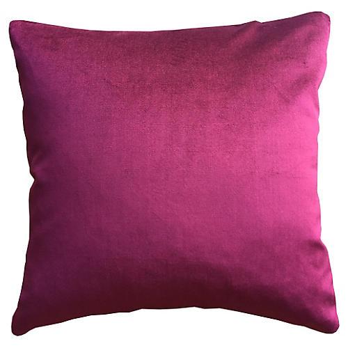 Dynasty 20x20 Velvet Pillow, Zinfandel