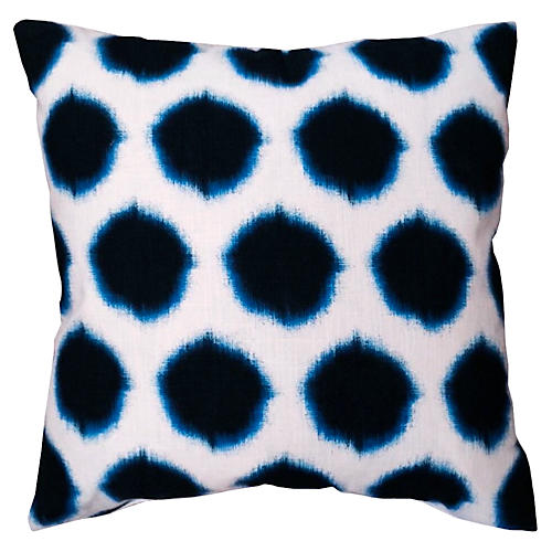 Thea 20x20 Pillow, Black/Blue