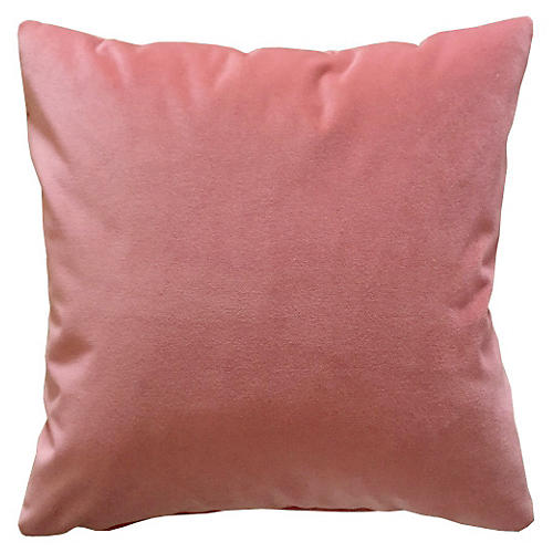 Cambridge 20x20 Velvet Pillow, Rose