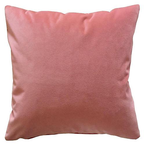 Cambridge 20x20 Velvet Pillow, Rose