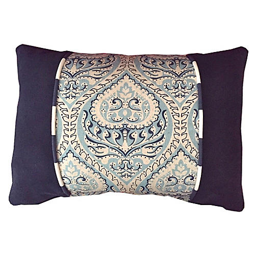 Willow Blues 14x20 Pillow, Ivory