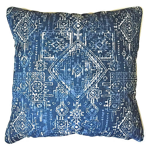 Akumal Outdoor Pillow, Indigo